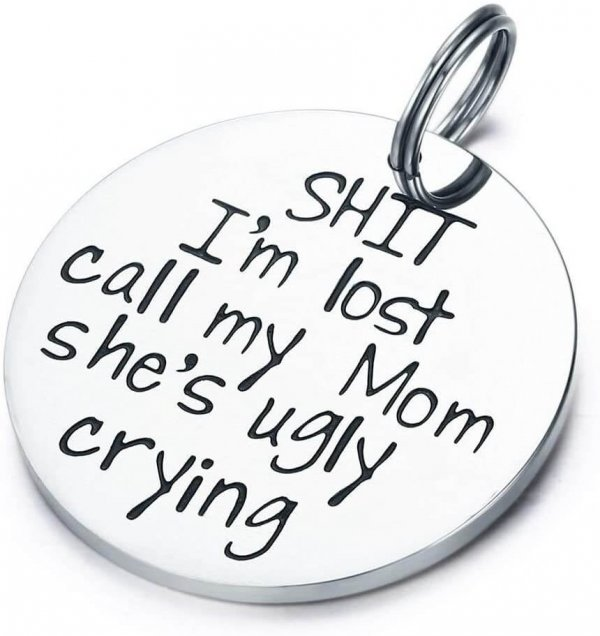 Example of getting lost dog tag funny
