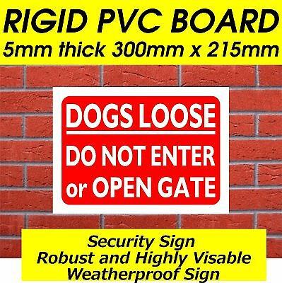 Rigid PVC board warning signs dog