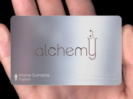 Shipping of Silver Business Card