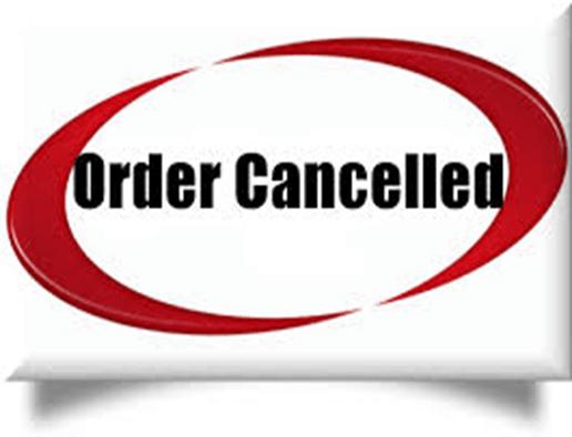 Order cancellation process