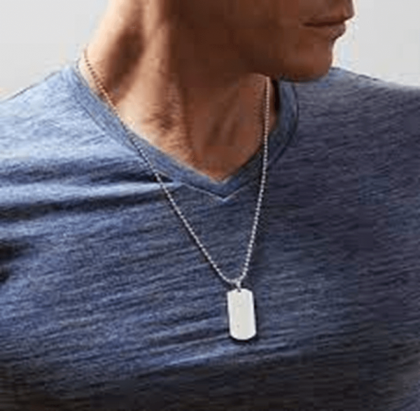Example of dog tag for men