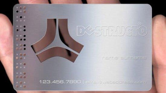 Choose Metal Business Card