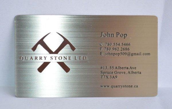 Personalized Metal Membership Cards