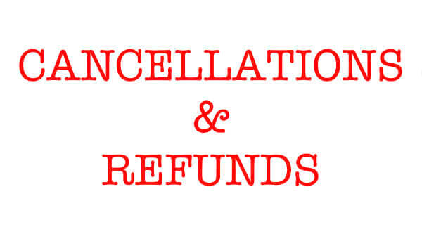 cancelation and refund