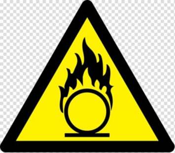 Oxidizing material safety symbols lab