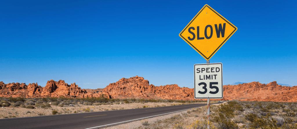 Regulatory warning signs road