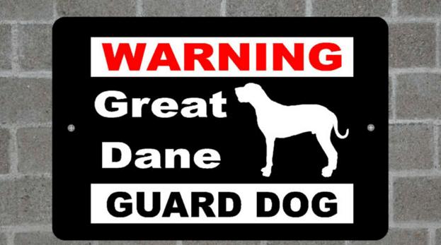 Warning signs dog