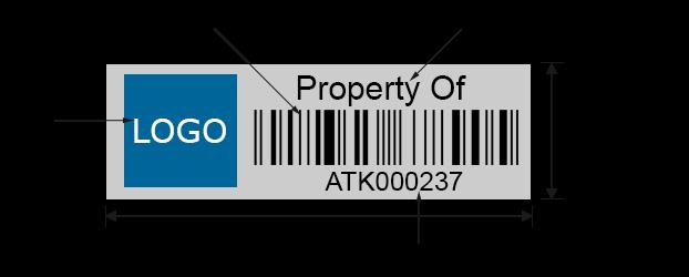 Custom Asset Tags sizes