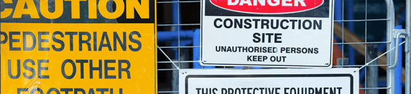 Construction safety signage