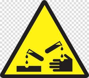 Corrosive material safety symbols lab