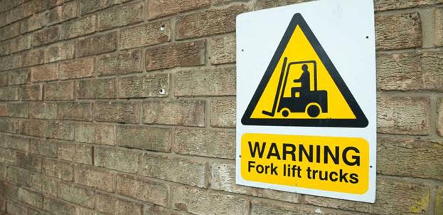 Warning symbols for lift trucks