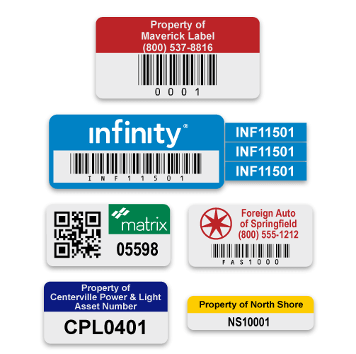 Colour options of barcode asset tags