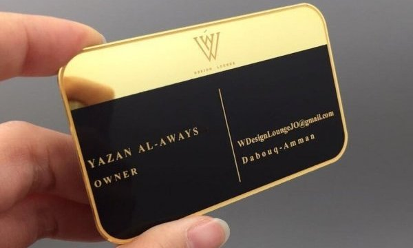 Finishing options for Metal Business Card