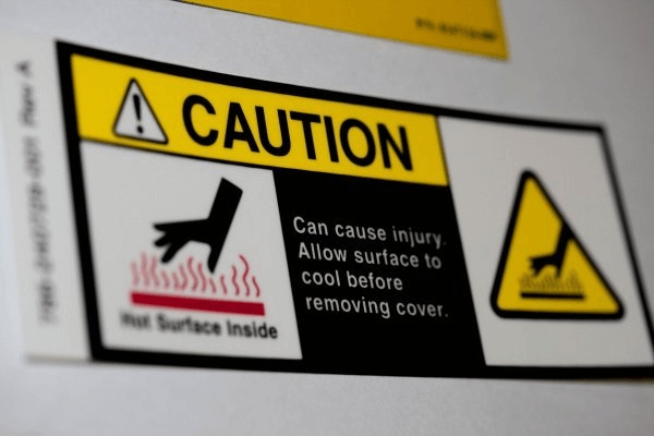 Caution Safety Symbol of hot surface.