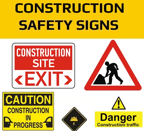 Safety signs designs