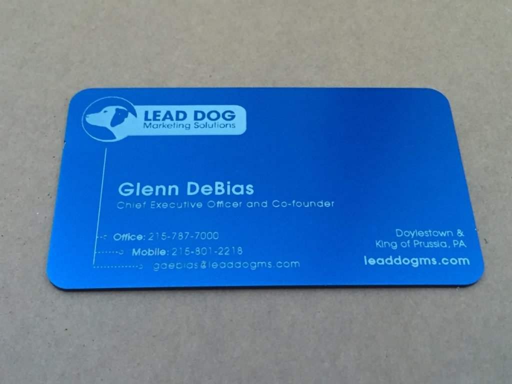 Information for Metal Business Card