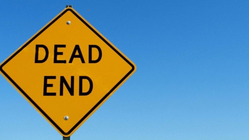 dead end warning sign
