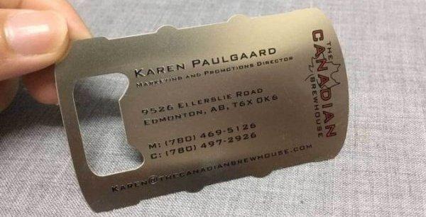 Metal Business Card Bottle opener