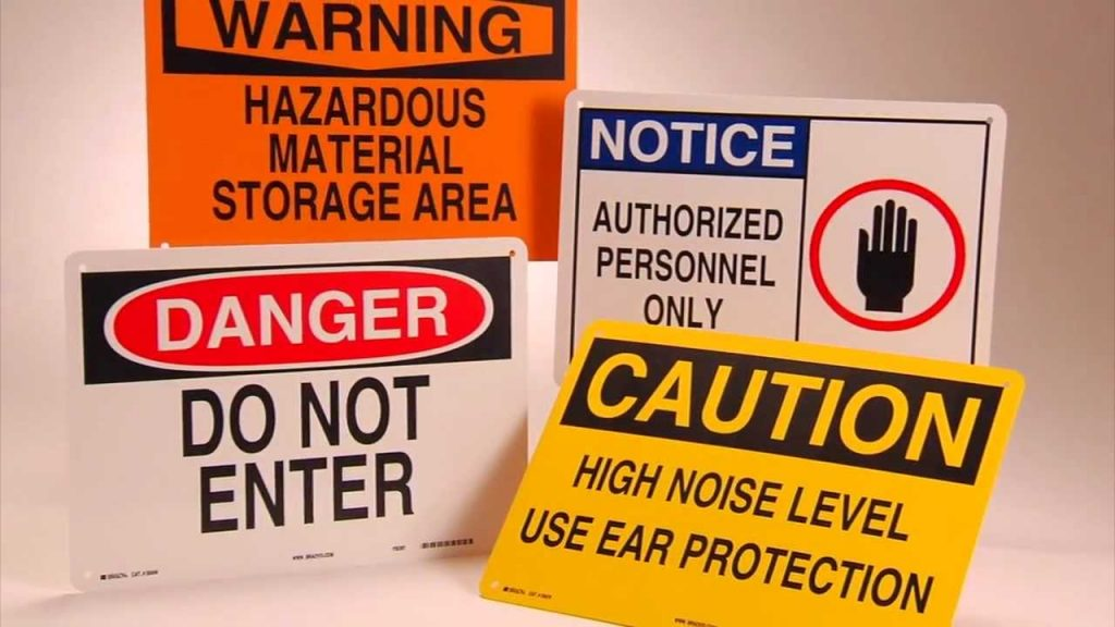 Importance of Safety signs Workplace
