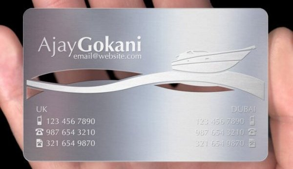 Design and Customization of Metal Visiting Cards