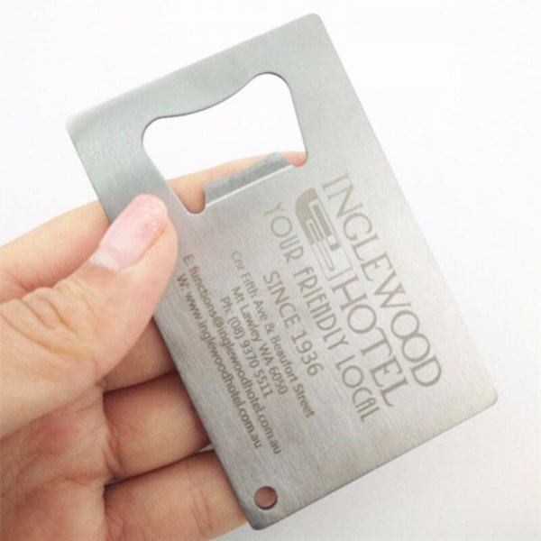 How to make Metal Business Card Bottle opener