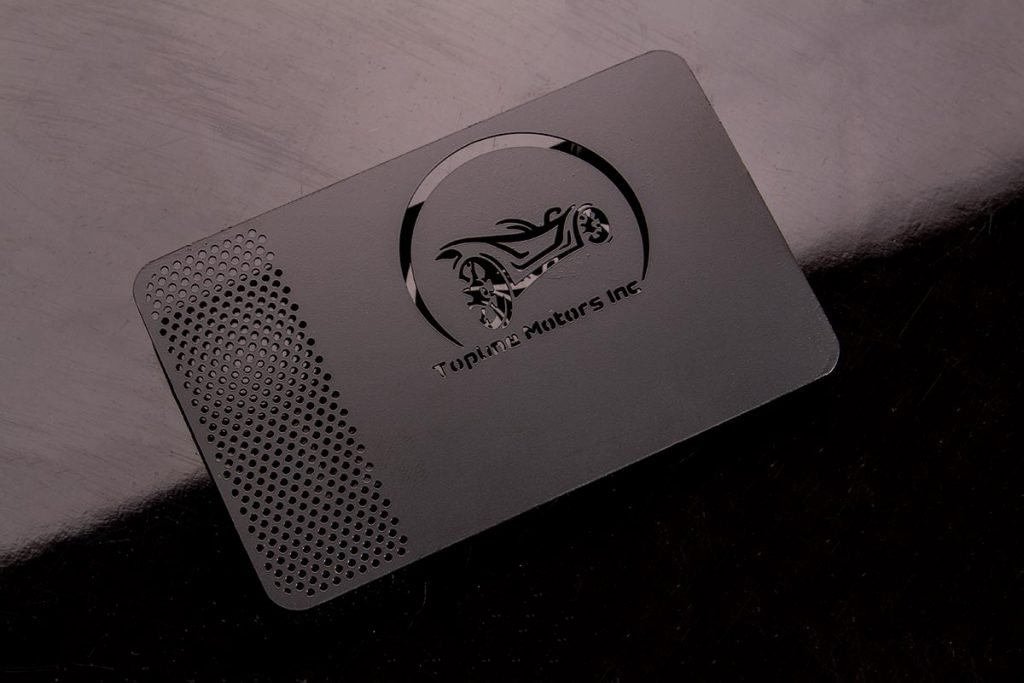 Graphic designer for Metal Visiting Cards
