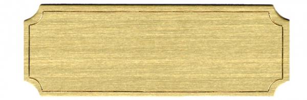 Blank metal nameplate